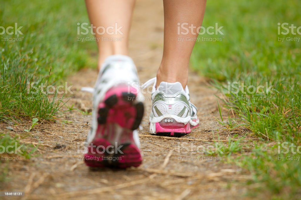Closeup of running shoes royalty-free stock photo