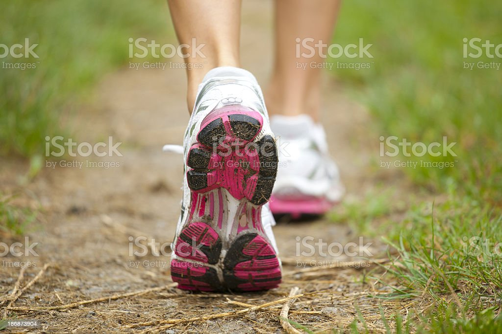 Close-up of running shoes royalty-free stock photo