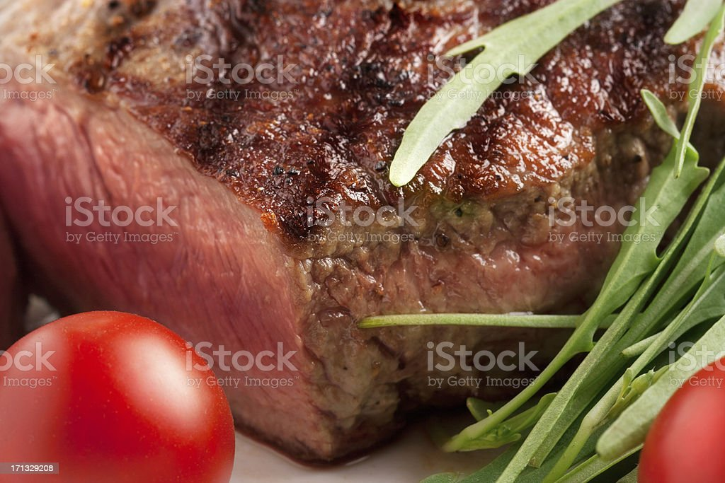 Close-up of rustic beef steak royalty-free stock photo