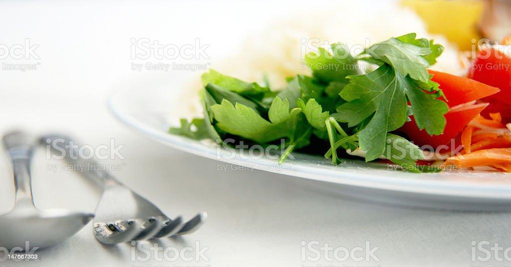 Nahaufnahme von Salat Lizenzfreies stock-foto
