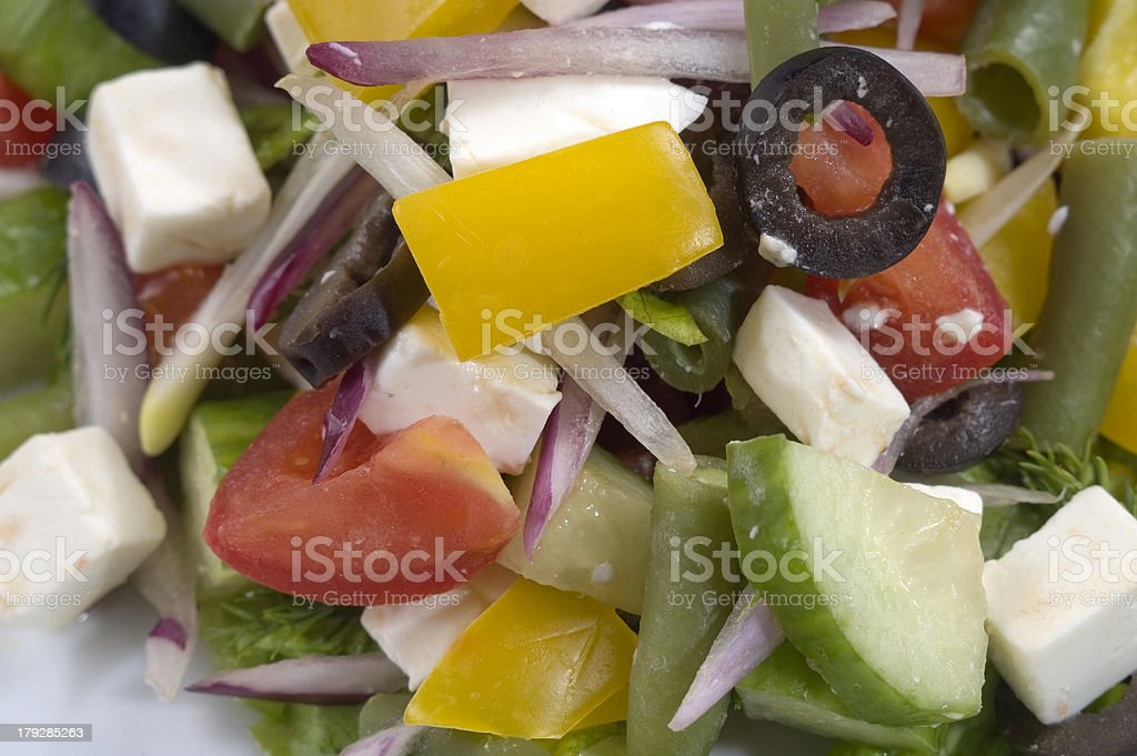 close-up of salad royalty-free stock photo