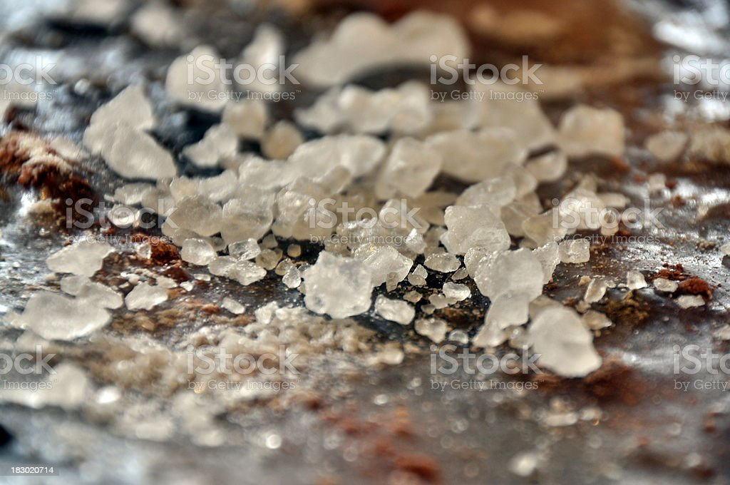 Close-Up of Salt Mine (Granule) stock photo