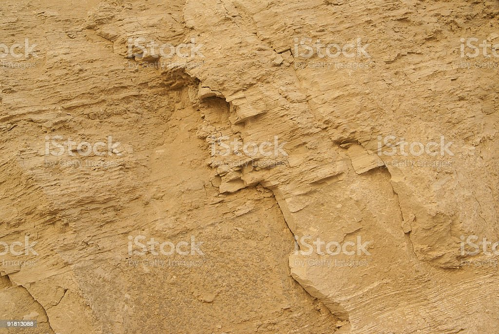 Close-up of sandstone. royalty-free stock photo