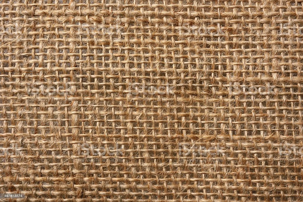 Close-up of seamless burlap texture background stock photo