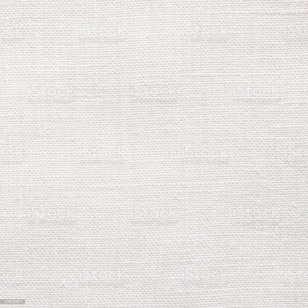 Close-up of seamless woven linen canvas stock photo
