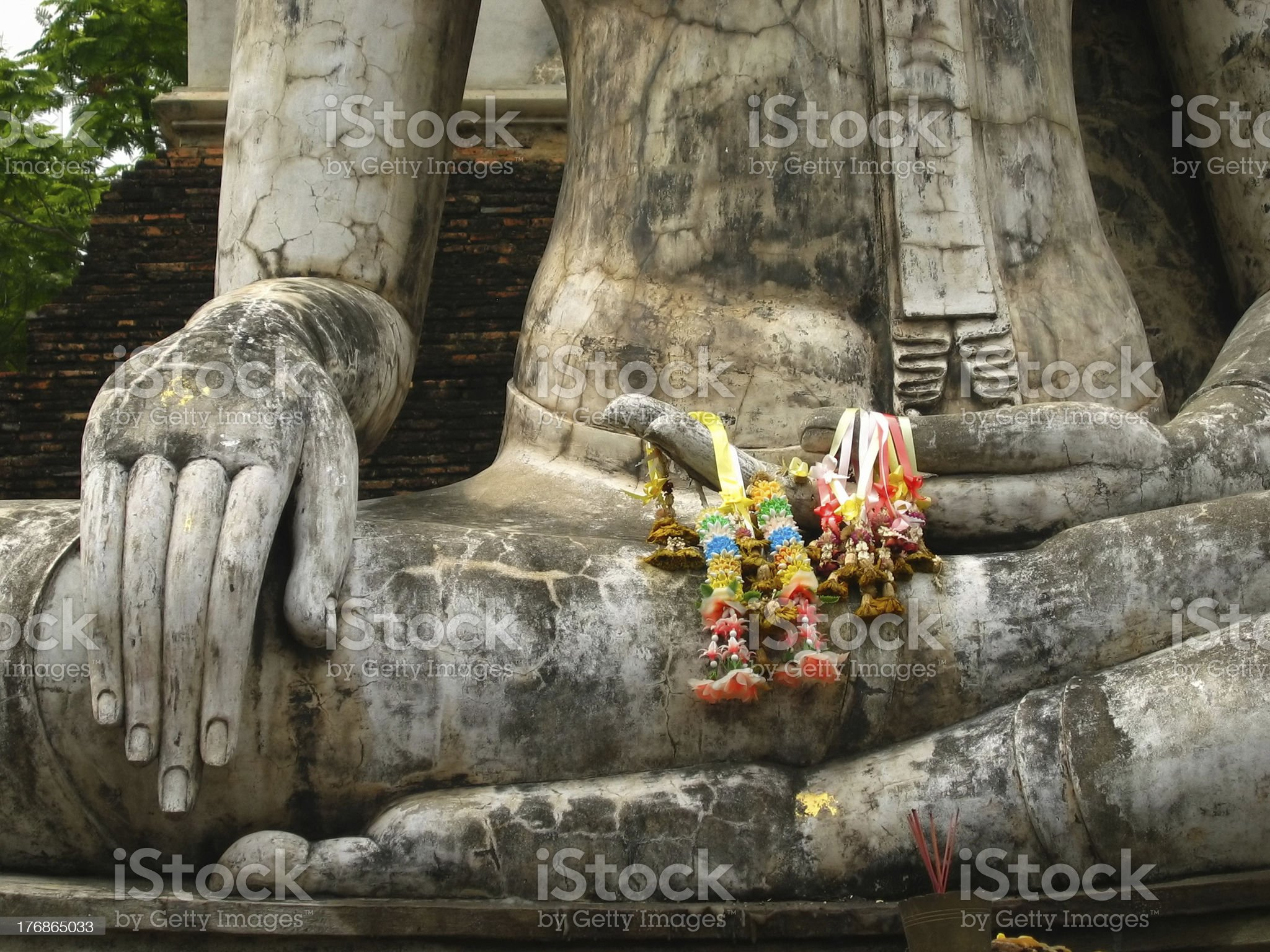 Closeup of seated Buddha royalty-free stock photo