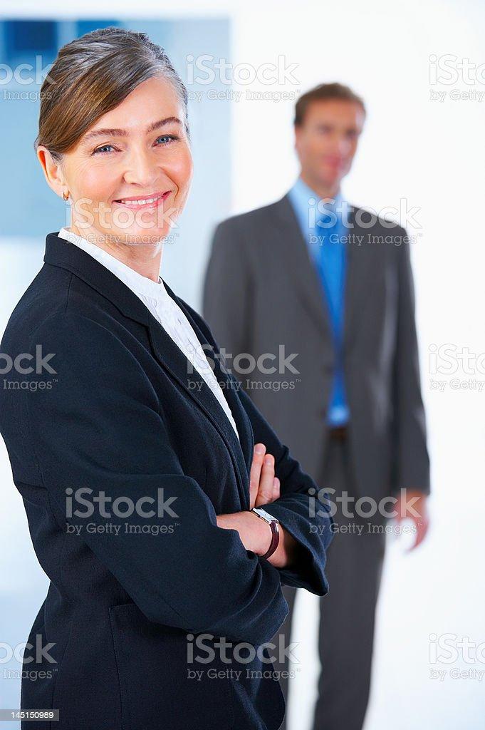Close-up of senior businesswoman smiling royalty-free stock photo