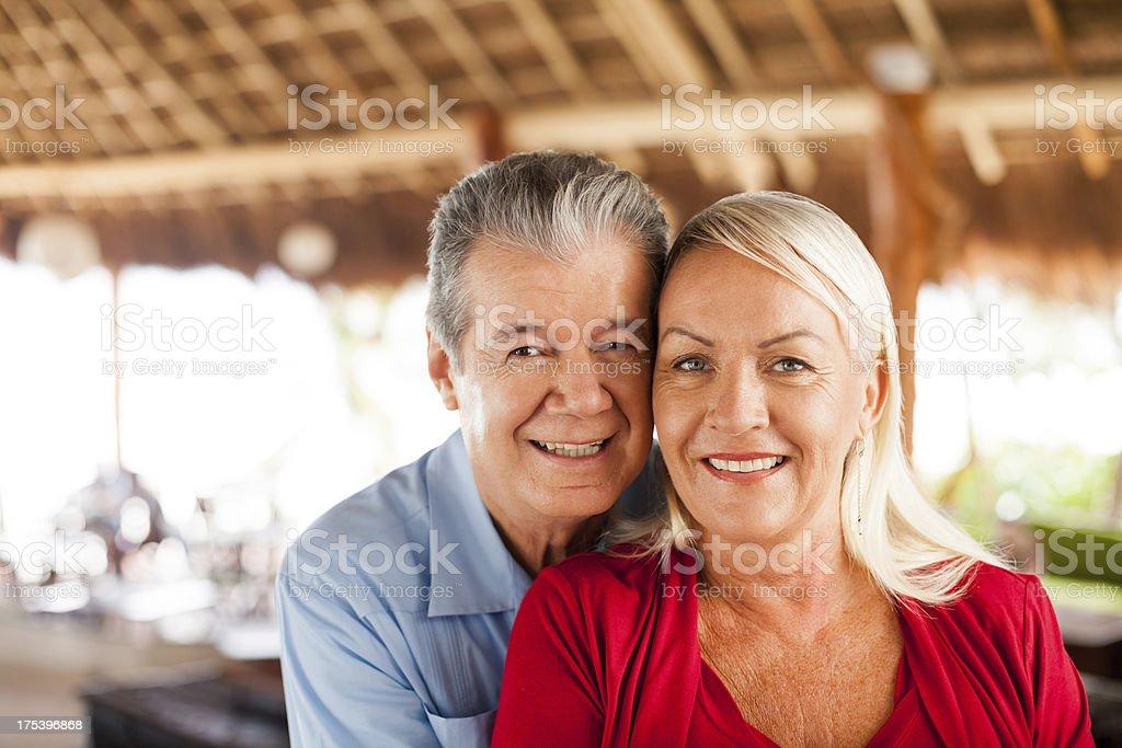 Close-up of senior couple royalty-free stock photo