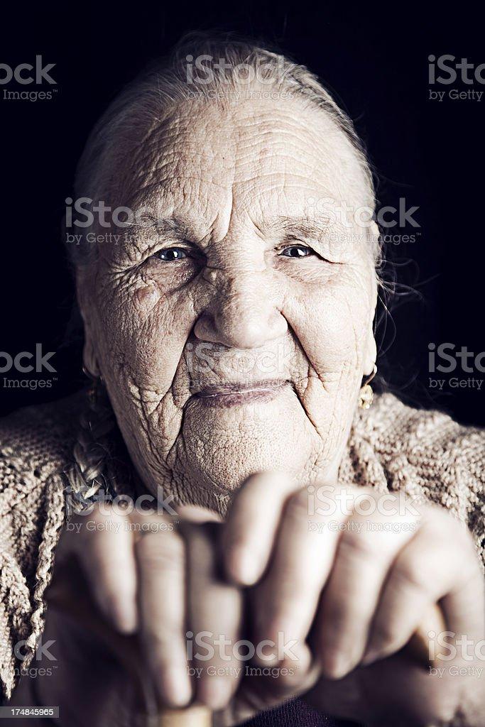 Close-up of senior woman royalty-free stock photo