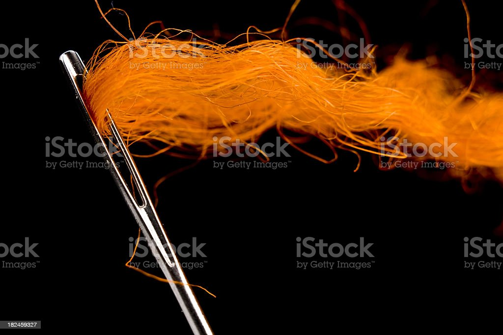 Close-up of  Sewing Needle royalty-free stock photo