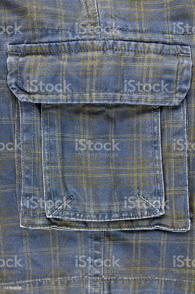 Closeup of shorts with cargo pocket royalty-free stock photo