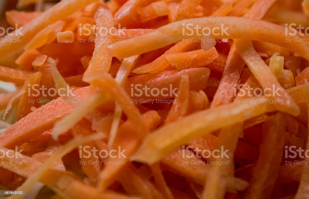 Close-up of Shredded/Chopped Carrot royalty-free stock photo