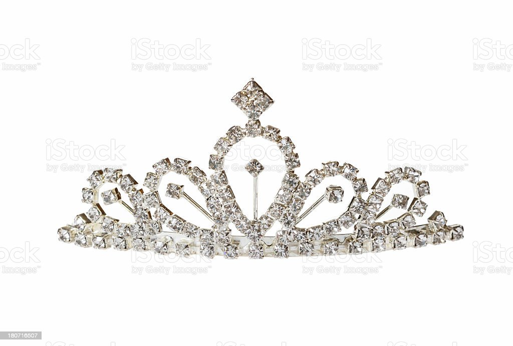 Closeup of silver diadem stock photo