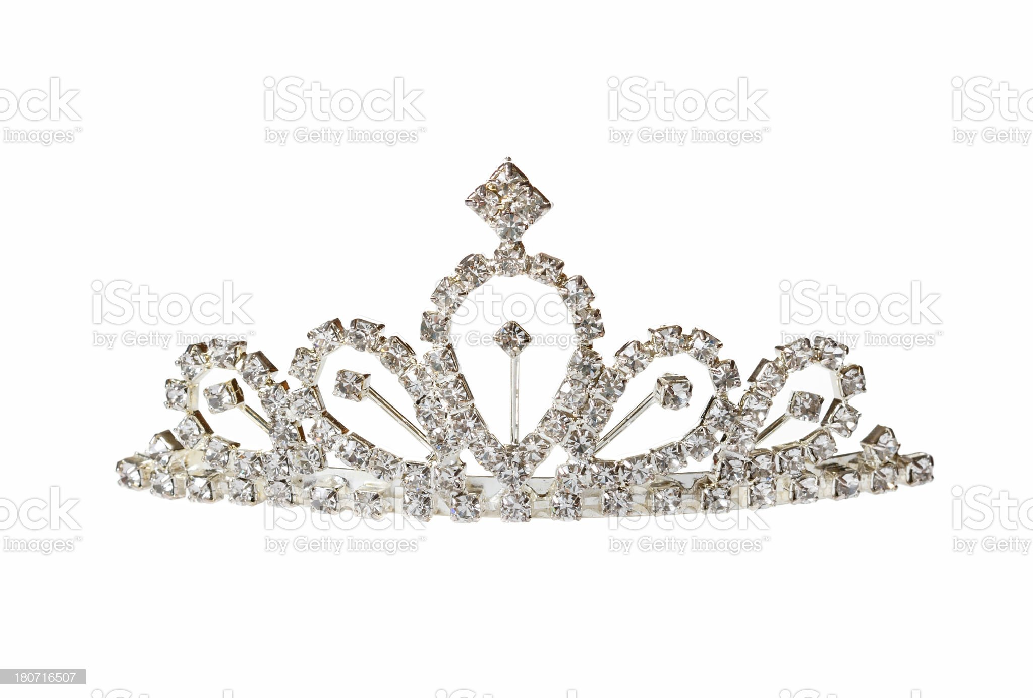Closeup of silver diadem royalty-free stock photo