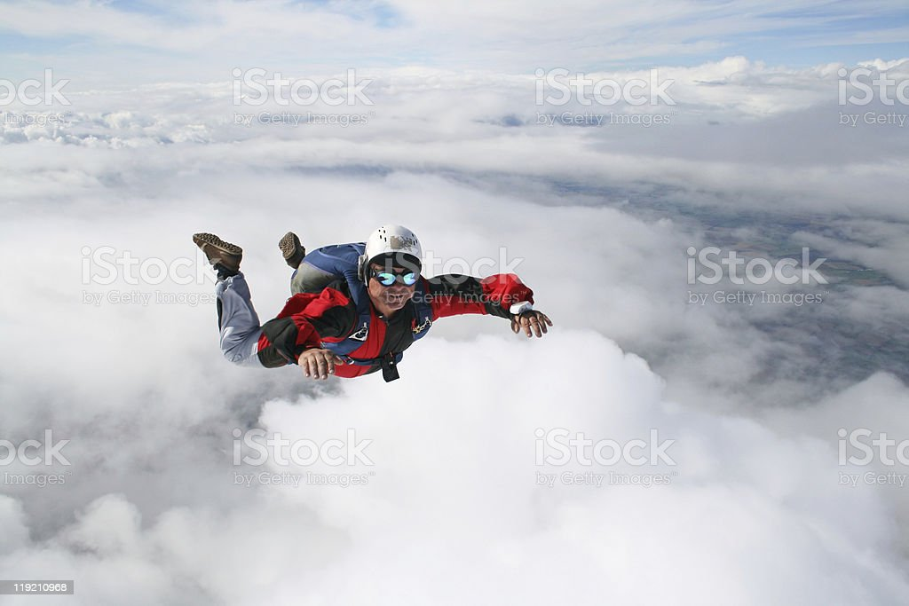 Close-up of skydiver royalty-free stock photo