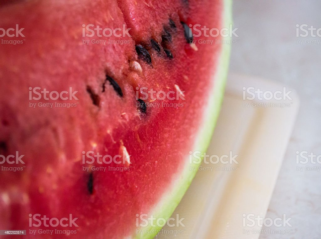 Close-up of Slice of Watermelon royalty-free stock photo