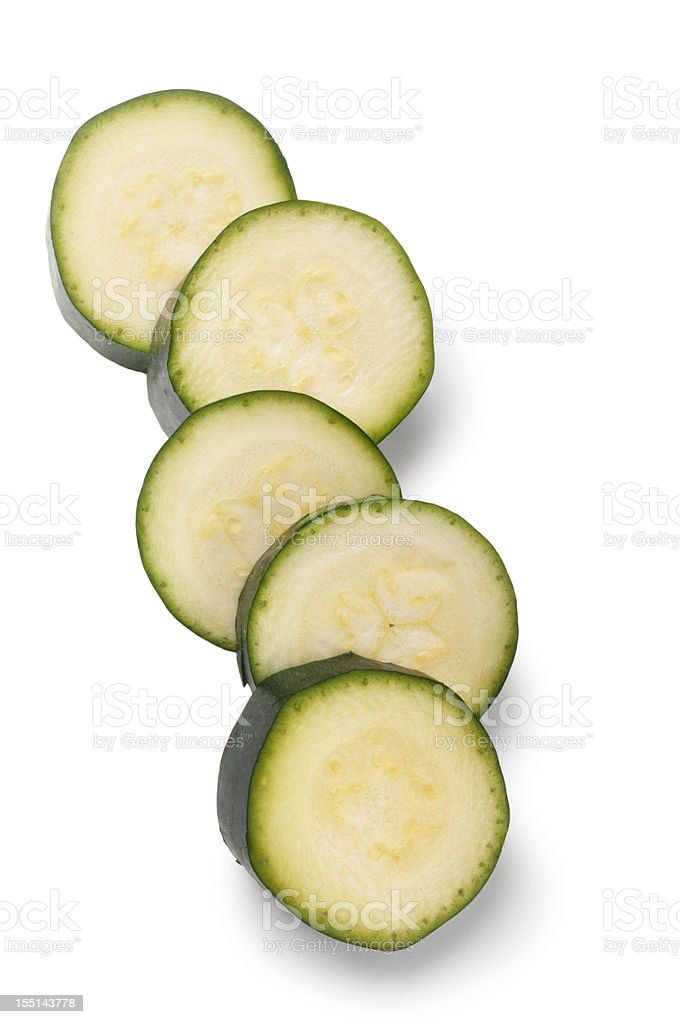 Close-up of sliced cucumbers fresh stock photo