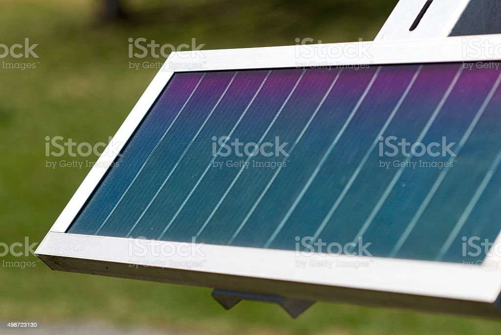 Close-up of small solar panel stock photo