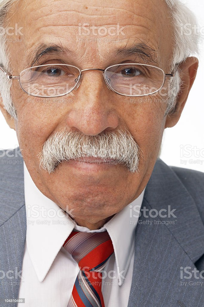 Close-up Of Smiling Elder Businessman royalty-free stock photo