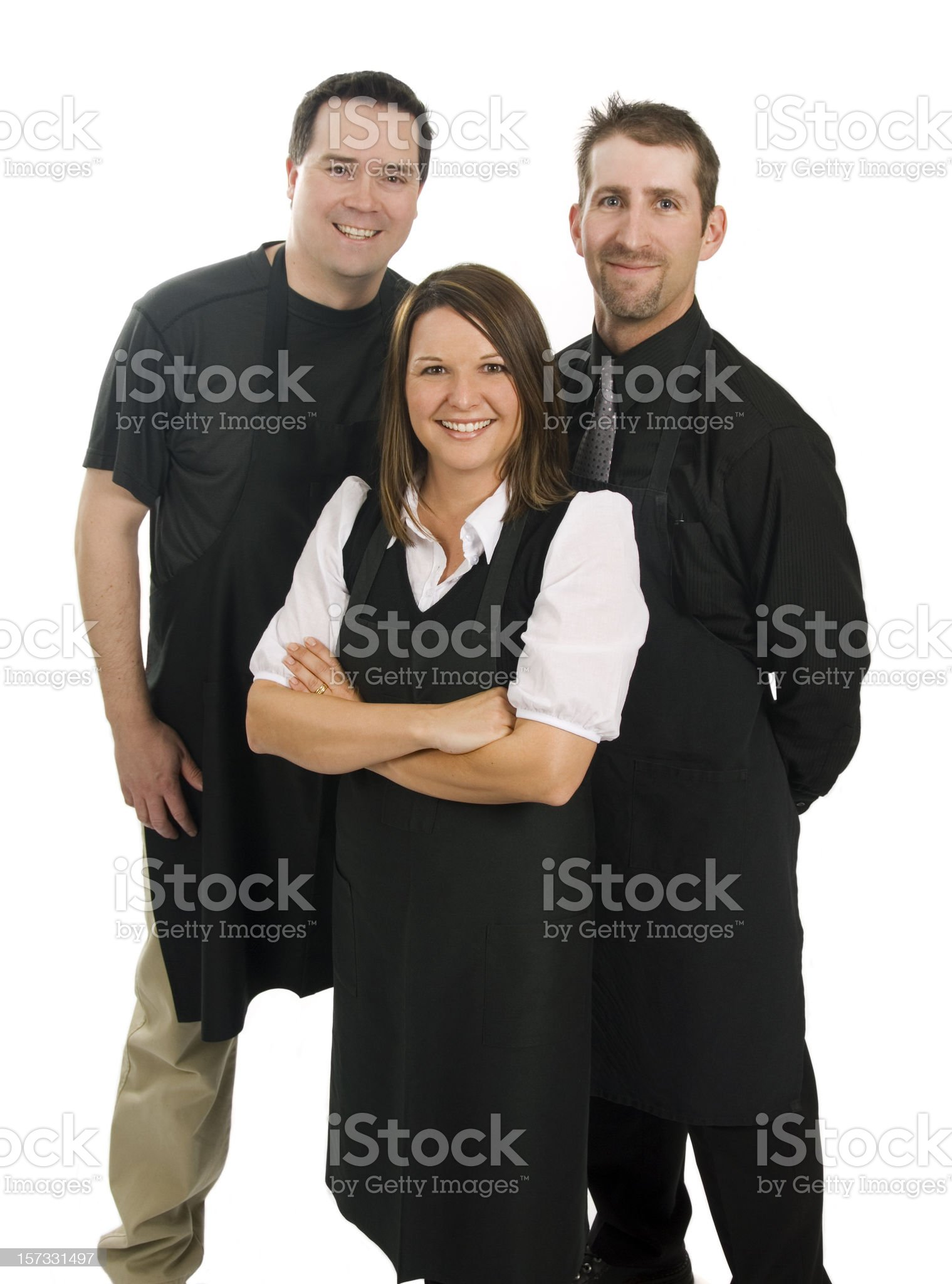 Close-up of smiling supermarket staff royalty-free stock photo