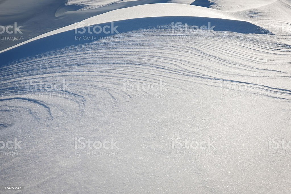Close-up of Snow Dunes in Julian Alps Slovenia stock photo