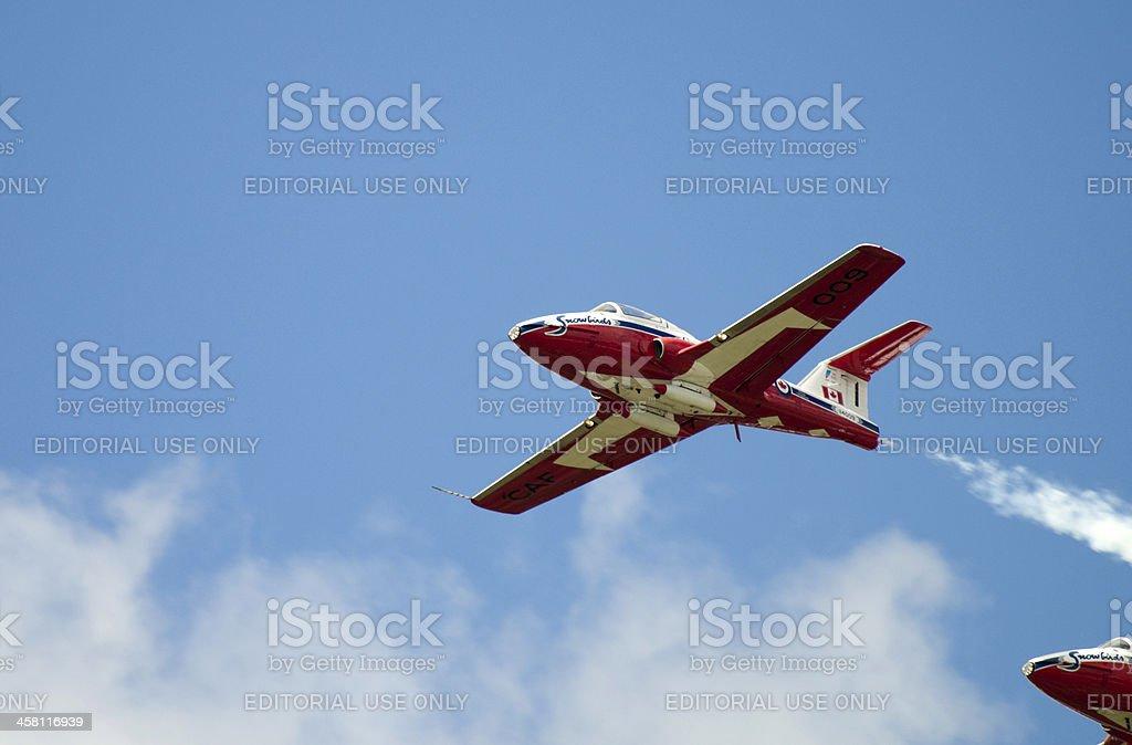 Closeup of Snowbird Jet stock photo