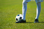 Close-up of soccer player
