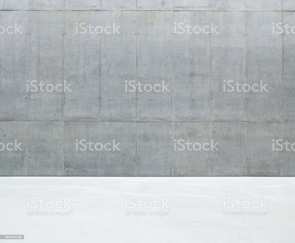 Close-up of solid concrete wall background stock photo