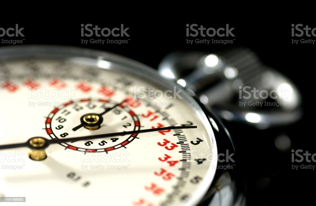 Close-up of stainless stopwatch with exquisite dial royalty-free stock photo