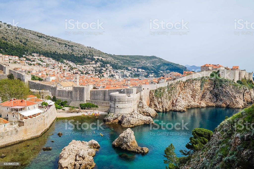 Closeup of St.Blaise Church, Dubrovnik stock photo