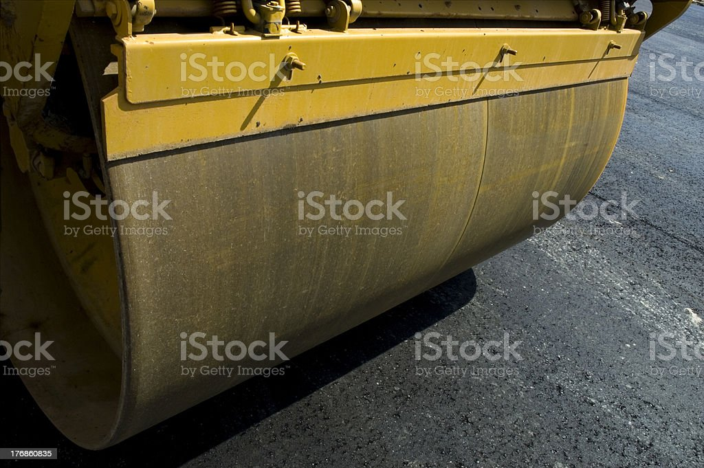 Closeup of Steamroller royalty-free stock photo