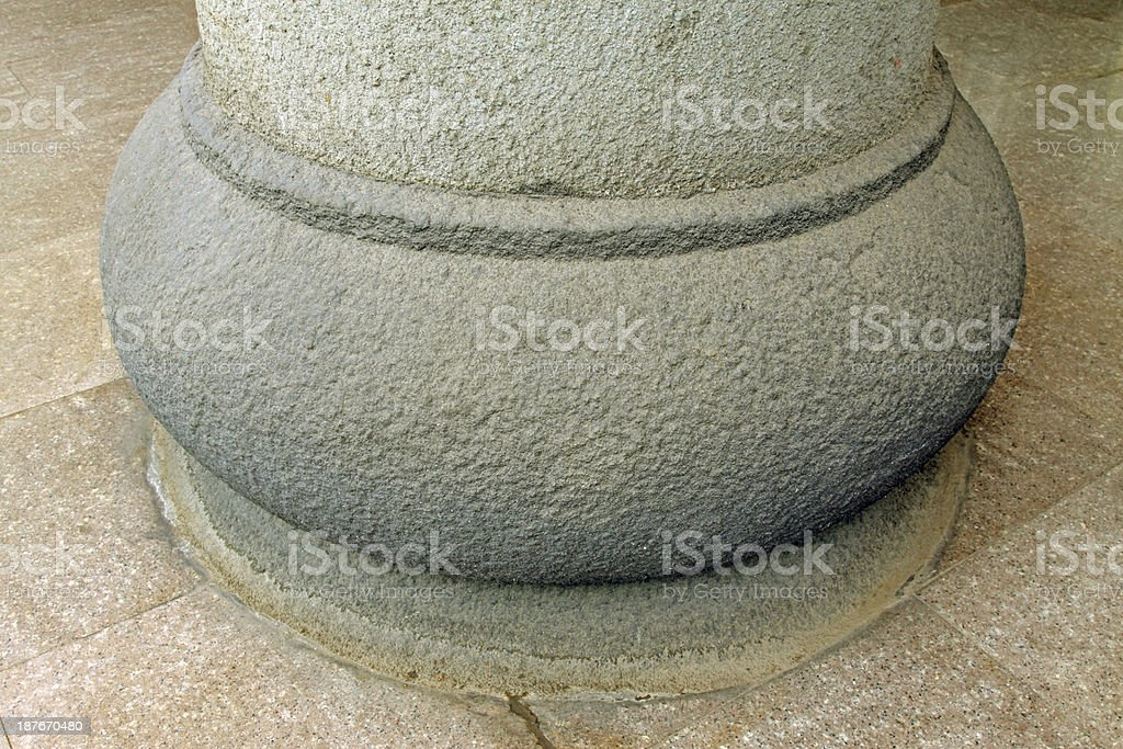 closeup of stone building materials in a park royalty-free stock photo