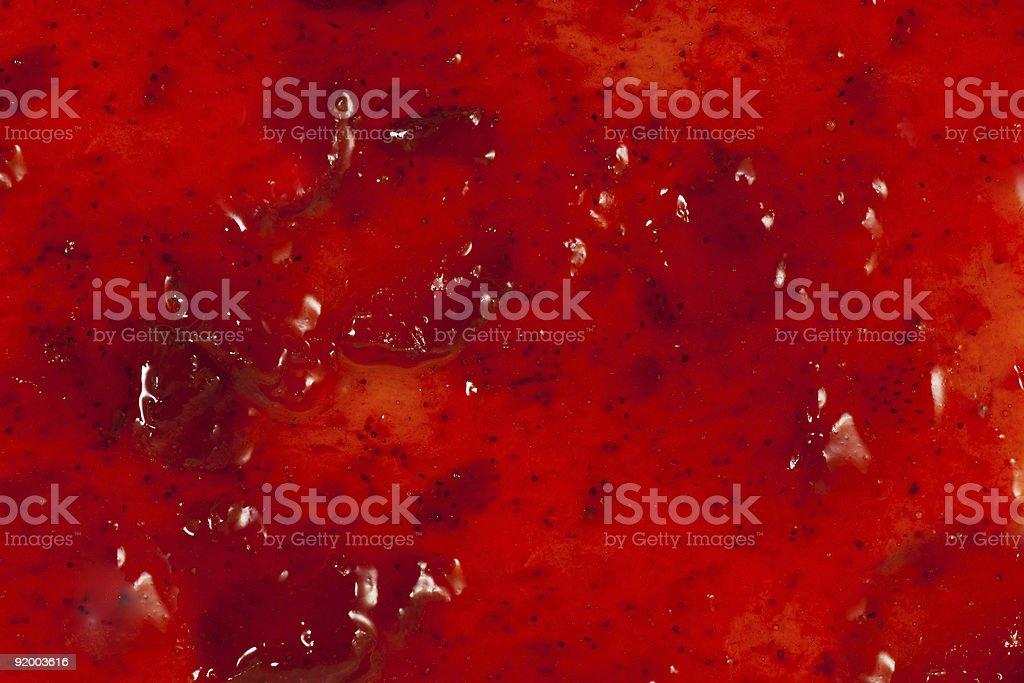 Close-up of strawberry marmalade stock photo