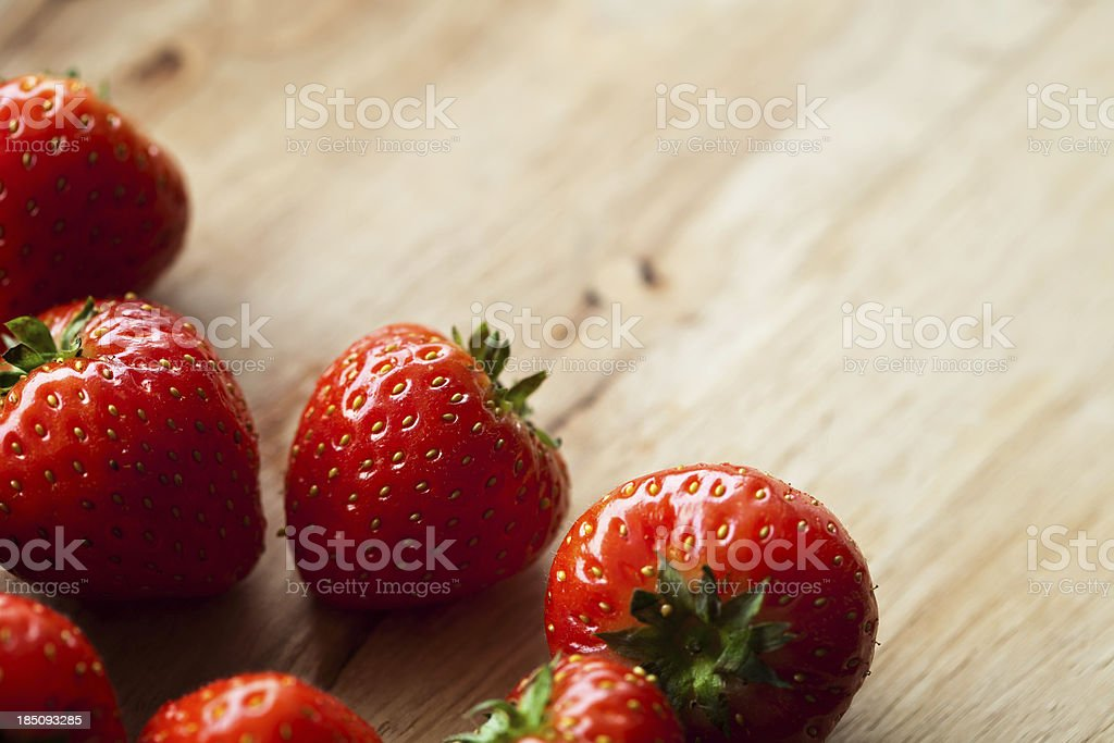 Close-up of strawberry royalty-free stock photo