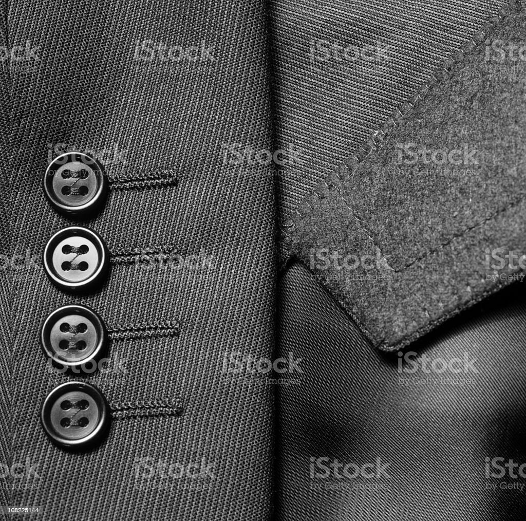 Close-up of Suit Jacket Buttons royalty-free stock photo