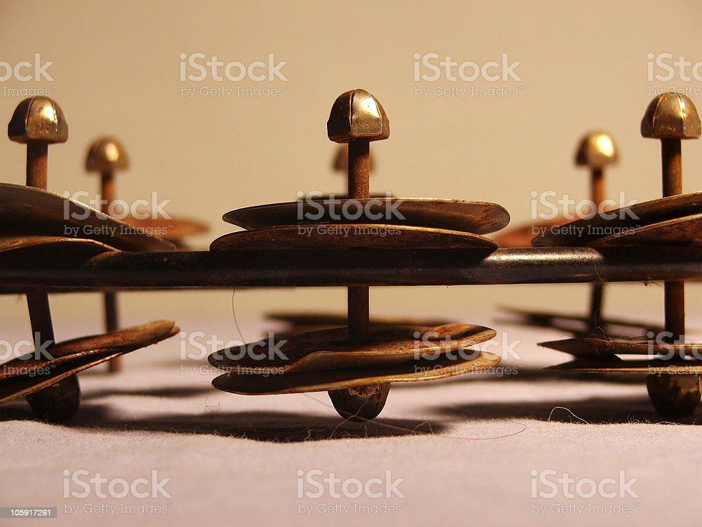 Close-Up of Tambourine royalty-free stock photo