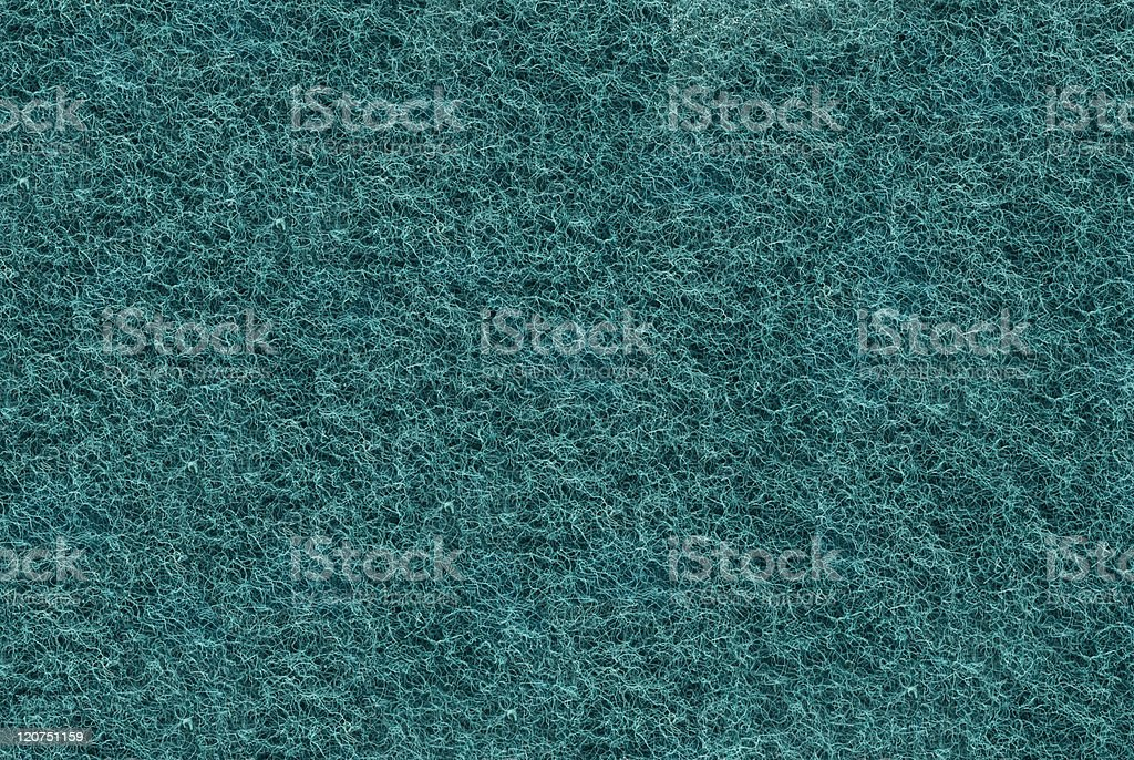Close-up of Teal synthetic fibrous surface stock photo
