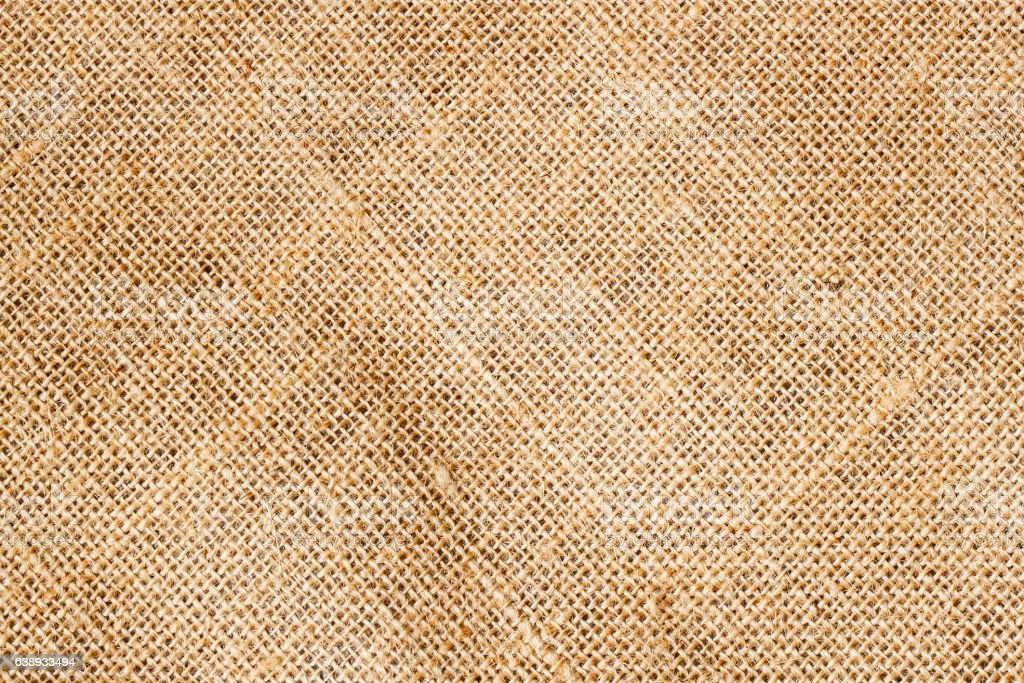 Closeup of Texture Natural sackcloth for background. Eco friendly. Place stock photo