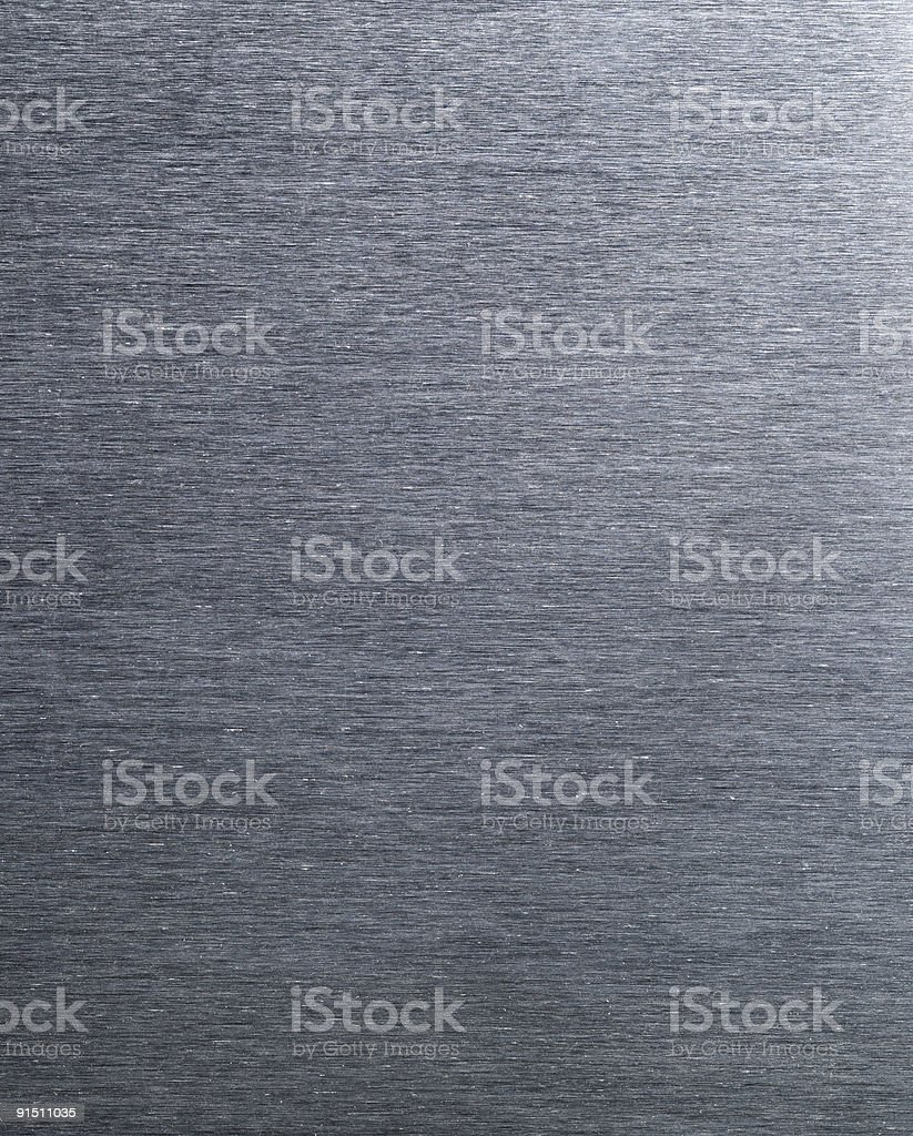 Closeup of Textured Brushed Metal Aluminum Surface Background royalty-free stock photo