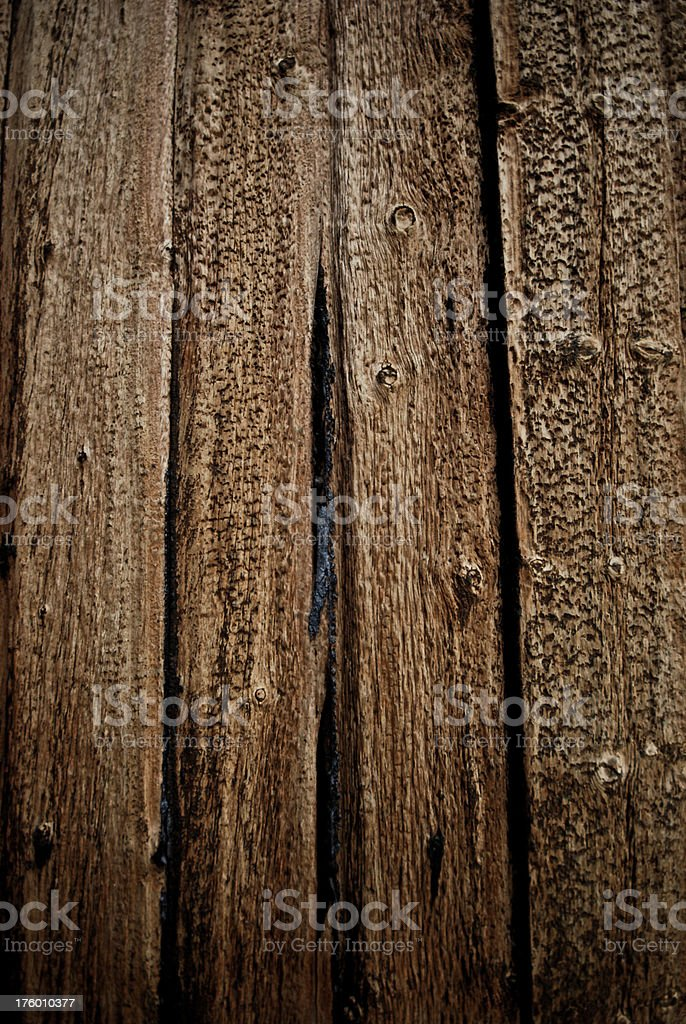 Close-up of textures and weathered old wooden planks royalty-free stock photo