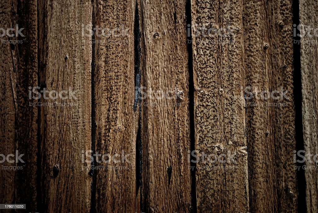Close-up of textures and weathered old wooden wall royalty-free stock photo
