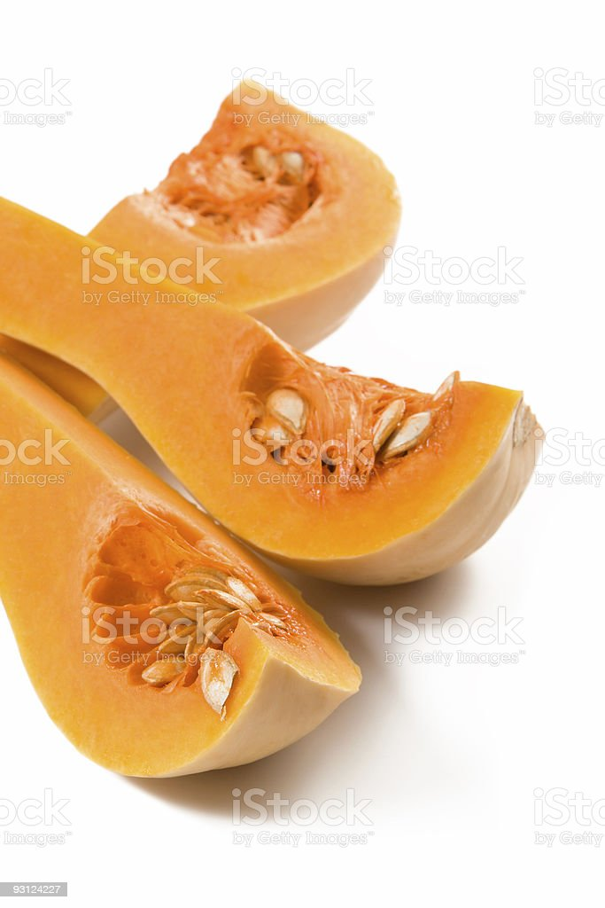Closeup of the butternut squash pieces royalty-free stock photo