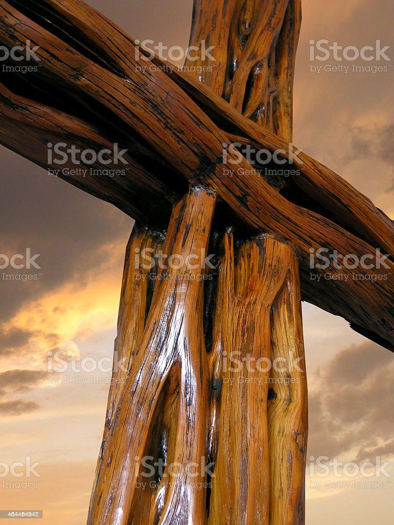 Closeup of the Cross stock photo