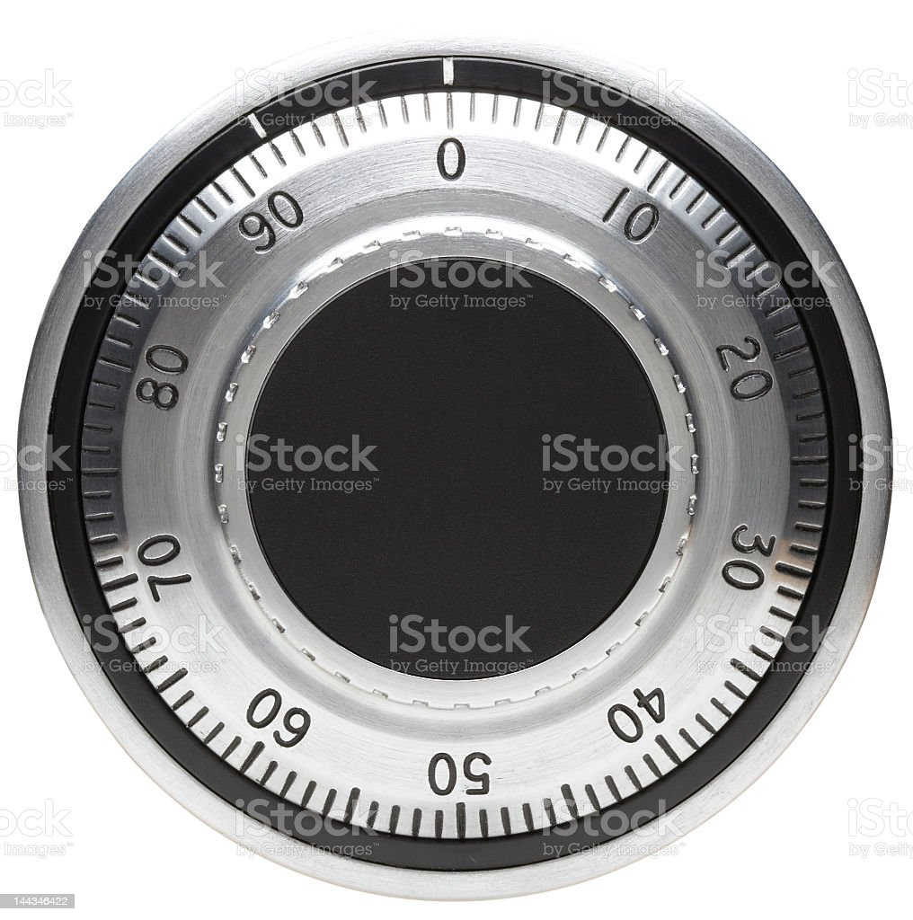 Close-up of the dial on a safe stock photo