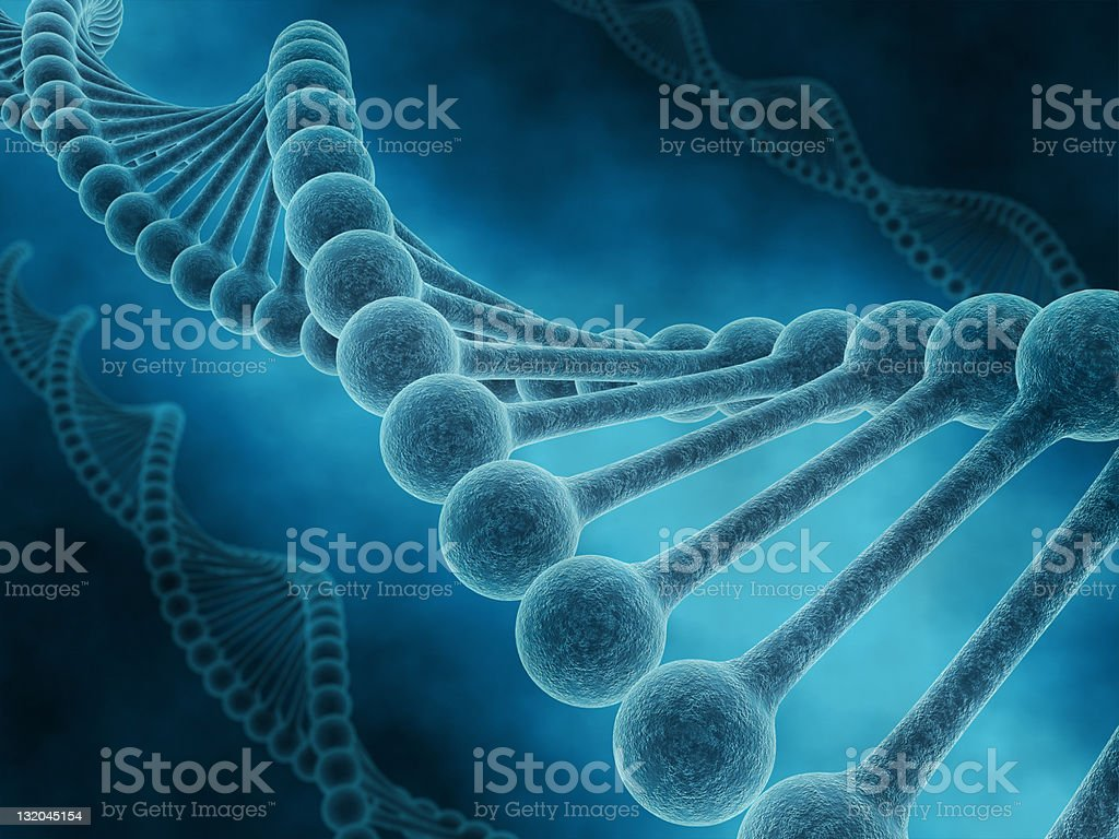 Close-up of the DNA molecular structure royalty-free stock photo
