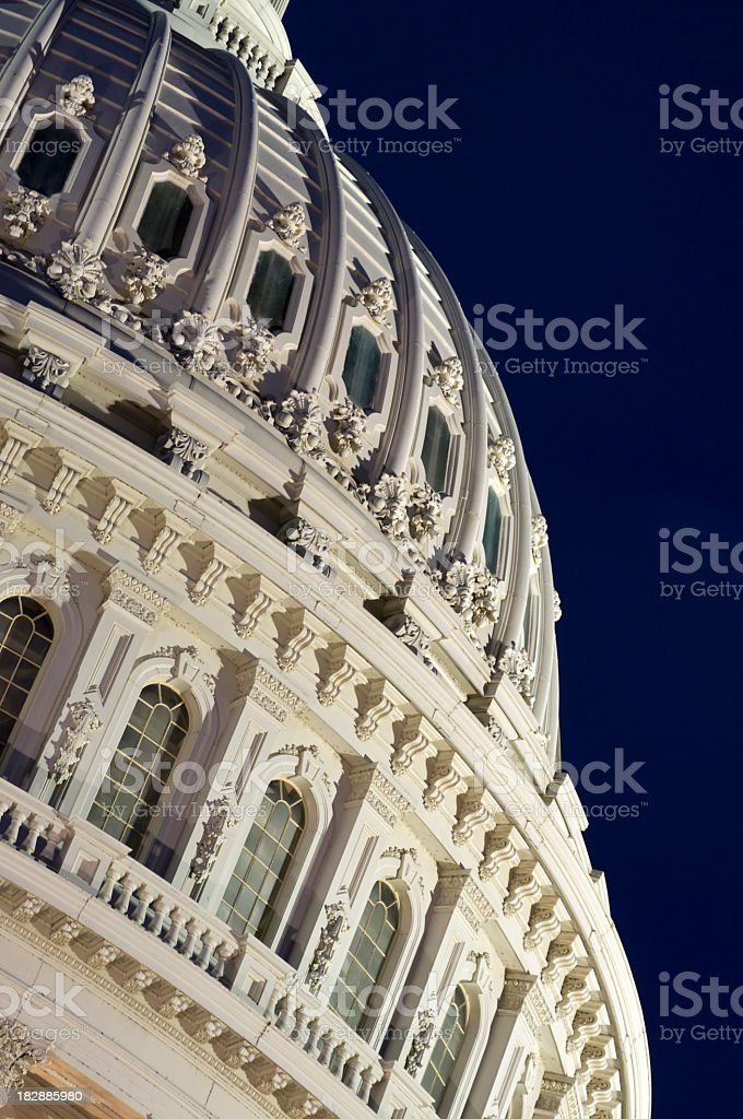 Close-up of the dome on the Capital building, Washington DC royalty-free stock photo