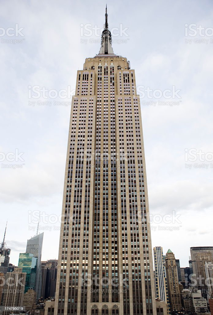 Close-up of the Empire State Building stock photo