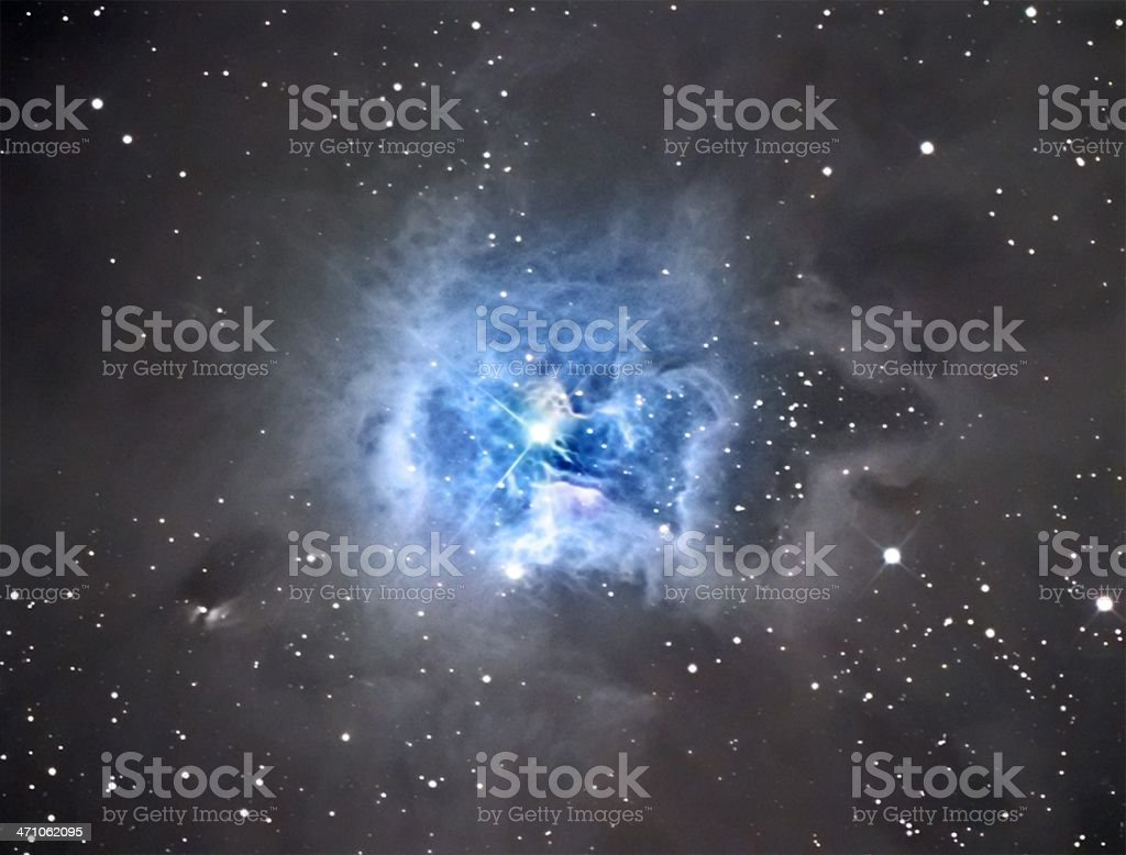 Closeup of the Iris Nebula stock photo