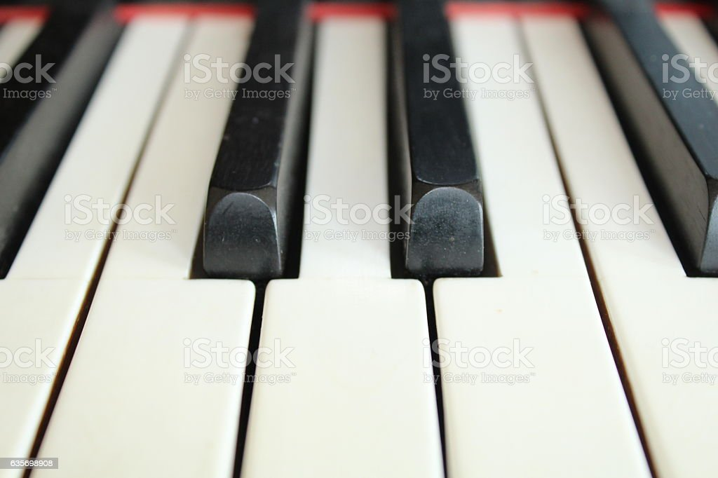 Close-up of the keys of a piano stock photo