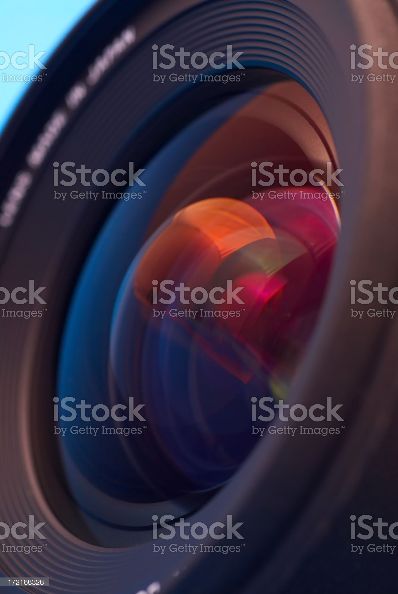 Close-up of the lens royalty-free stock photo